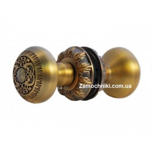 Дверная ручка кнопка металлическая